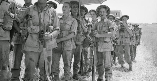 5 Agosto 1943 Centuripe, Sicilia, Truppe Inglesi