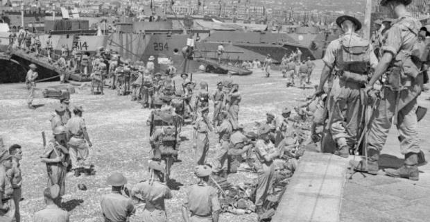 5 Agosto 1943, Catania, Truppe Inglesi